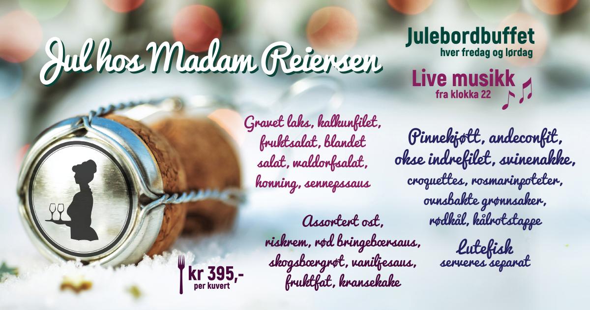 Velkommen til julebord hos Madam Reiersen